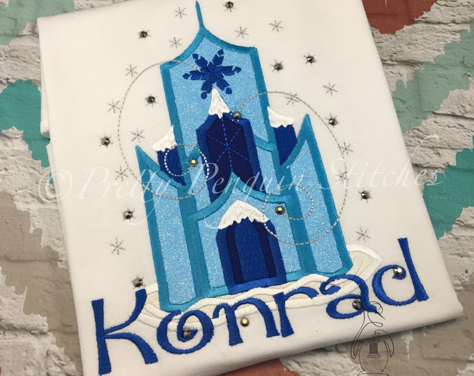 Ice Castle shirt, Queen Elsa Caste shirt, Frozen Sisters inspired, personalized shirt, EMBROIDERED