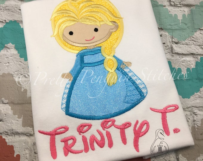 Elsa Cutie shirt, personalized shirt- Personalized shirt- Family Vacation Shirt- Princess- Embroidered- Monogrammed