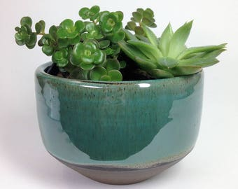 Succulent Planter, Ceramic Planter, Stoneware Planter, Rustic Planter, Flower Pot, Pottery Planter, Cactus Pot, Drainage Hole, MADE TO ORDER