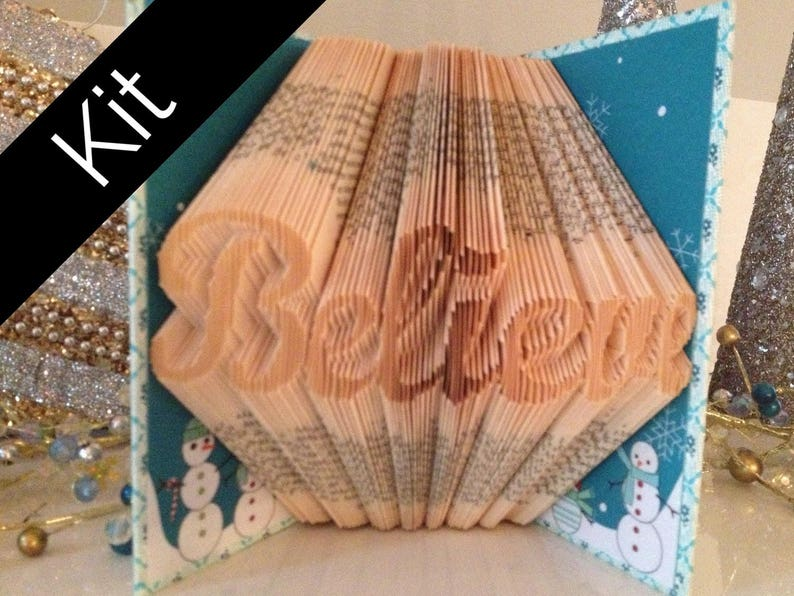 Folded Book Kit for Christmas  Believe  Includes Book to image 0