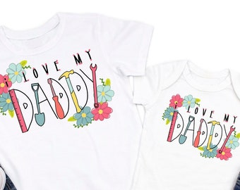 6f630d23 Father's Day gift from daughter, fathers day bodysuit, fathers day t-shirt,  I love my daddy shirt, baby girl fathers day bodysuit