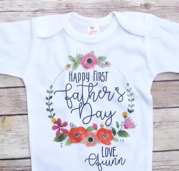 Vaderdag Cadeau Van Dochter Eerste Vaderdag Baby Meisje Vaders Dag Outfit Gepersonaliseerde Gift Van De Dag Van Vaders Cadeau Voor Papa