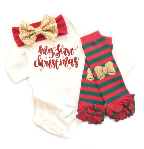 4022e6ba8dcb6d Baby Girls Christmas Outfit Newborn Christmas Outfit My | Etsy