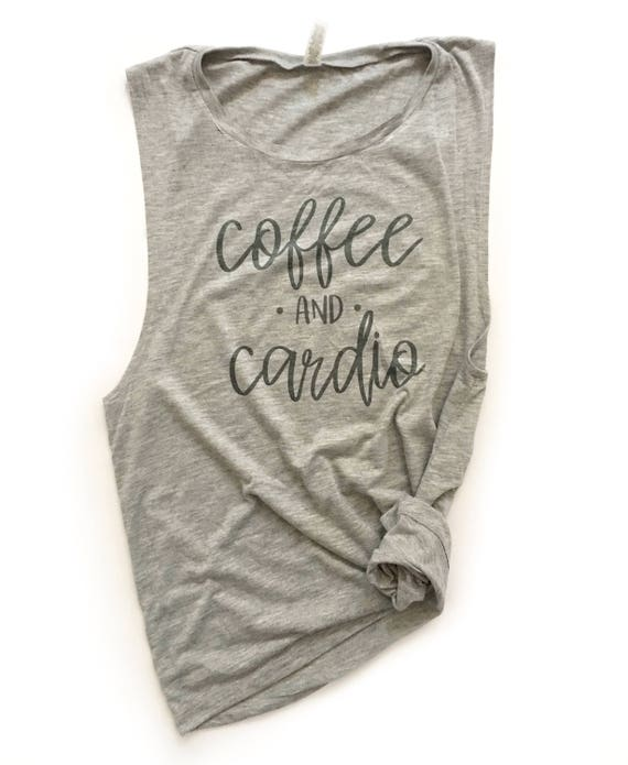 405362b738264 Women s workout tank coffee and cardio ladies muscle