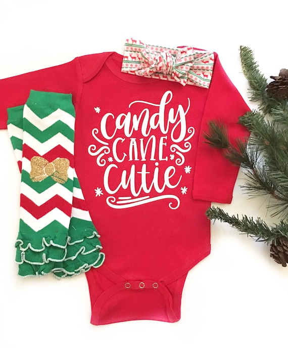 19d2f3eac Baby Girl Christmas Outfit Candy Cane Cutie Outfit Christmas