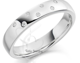 Platinum Wedding Bands  for Men and Women,  Platinum Diamond Wedding Rings, His & Hers Wedding Bands