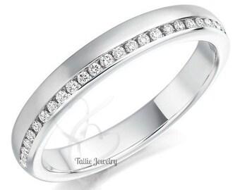 Platinum Diamond Wedding Bands,Womens Platinum Wedding Rings,Matching Wedding Bands,Platinum Anniversary Wedding Rings