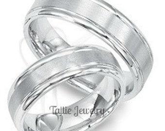 Platinum His and Hers Wedding Bands, Platinum Matching Wedding Rings,Platinum Wedding Bands, Platinum Wedding Rings,His & Hers Wedding Bands