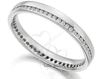 Platinum Diamond Eternity Wedding Bands, Platinum Diamond Eternity Wedding Rings, Platinum Diamond  Wedding Bands, Matching Wedding Rings