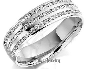Diamond Eternity Wedding Rings, Diamond Eternity Wedding Bands, 14K White Gold Diamond Wedding Rings, Womens Diamond Wedding Bands