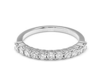 14K White Gold Diamond Wedding Band / Diamond Eternity Ring / Womens Diamond Wedding Bands / Engagement Rings/Diamond Eternity Wedding Band