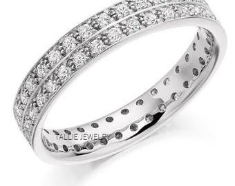 Platinum Diamond Eternity Wedding Bands,Platinum Diamond Eternity Wedding Rings,Matching Wedding Bands,Womens Platinum Diamond Wedding Rings