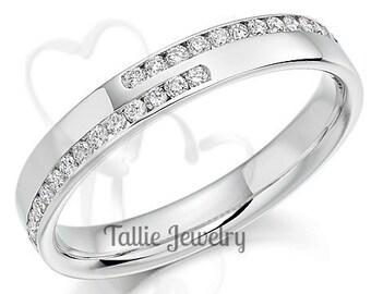 Diamond Eternity Ring, Diamond Eternity Wedding Band, 14K White Gold Womens Diamond Wedding Band, Diamond Eternity Wedding Ring