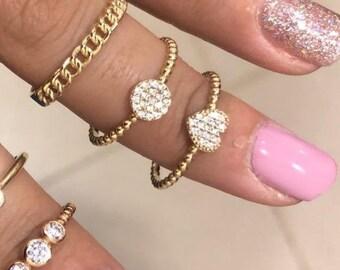 14K Gold Heart Ring, Diamond CZ Heart Ring, Twisted Ring,  Dainty Heart Ring,  Minimalist Heart Ring, Promise Ring,  Gold Wedding Band