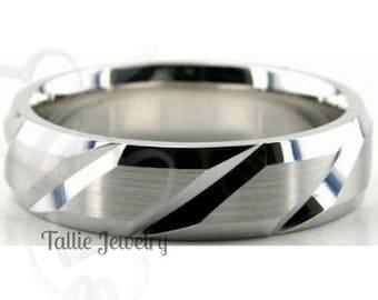 950 Platinum Wedding Band, Platinum Wedding Ring, 6mm  Platinum Mens Wedding Bands, Platinum Mens Wedding Rings