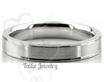 Mens and Womens Platinum Wedding Ring ,Platinum Wedding Band ,Matching Wedding Rings, His & Hers Wedding Bands, Satin Finish