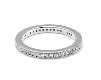 Diamond Eternity Ring / Diamond Eternity Band / 14K Gold Diamond Wedding Rings / Womens Diamond Wedding Bands / Stacking Diamond Ring