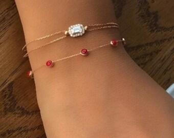 14K Gold Bracelets