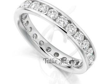 Platinum Diamond Eternity Wedding Rings, Platinum Diamond Eternity Wedding Bands, Matching Wedding Rings. Platinum Diamond  Wedding Rings