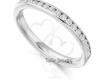 Platinum Diamond Eternity Wedding Rings, Diamond Anniversary Wedding Bands, Matching Wedding Bands,Platinum Womens Diamond Wedding Rings