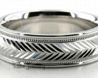 950 Platinum Wedding Band, Platinum Wedding Ring, 6mm Shiny Finish Platinum Mens Wedding Bands, Platinum Mens Wedding Rings