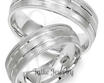 Platinum Wedding Bands, Platinum Wedding Rings, His & Hers Wedding Bands, Matching Wedding Rings Set