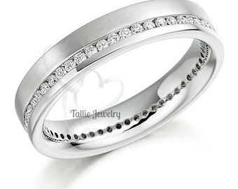Diamond Eternity Wedding Bands, Diamond Eternity Wedding Rings, 14K White Gold Diamond Wedding Bands, Womens Diamond Wedding Bands