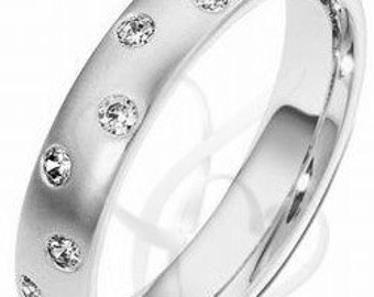 Platinum Wedding Band for Men and Women, Platinum  Diamond Wedding Rings, His & Hers Wedding Bands