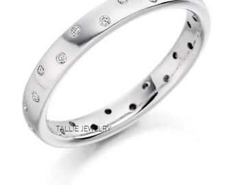 Platinum Diamond Eternity Wedding Bands, Platinum Diamond Wedding Rings, Matching Wedding Bands, Diamond Eternity Wedding Rings