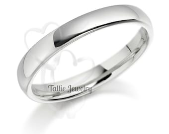 Platinum Wedding Bands,  Platinum Wedding Ring , Plain Platinum Wedding Band,  Mens Womens Platinum Wedding Rings