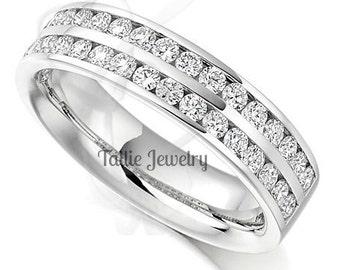 Diamond Eternity Rings, Diamond Eternity Wedding Bands, Diamond Wedding Rings, 14K White Gold Womens Diamond Wedding Bands