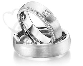 Platinum His&Hers Rings