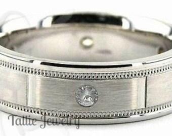 Mens Platinum Wedding Bands, Mens Platinum Wedding Rings,  Platinum Diamond Wedding Bands, Diamond Mens Wedding Ring