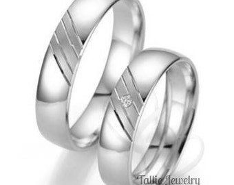 Platinum Matching wedding Bands, His and Hers Wedding Rings, Platinum Wedding Bands,Platinum Wedding Rings, Platinum Diamond Wedding Bands