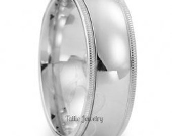Mens Platinum Wedding Ring,  Platinum Mens Wedding Bands,