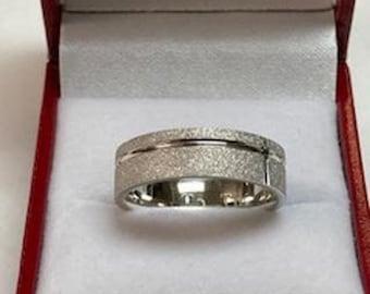Platinum Mens Wedding Band ,Platinum Mens Wedding Ring , 950 Platinum Band, Platinum Ring