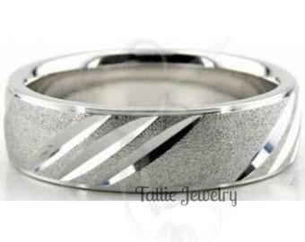 Mens Platinum Wedding Band,  Platinum Mens Wedding Ring, 950 Platinum Band