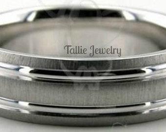 950 Platinum  Mens Wedding Band,  6mm Brushed Finish  Platinum Mens Wedding Rings , Platinum Band, Platinum Ring