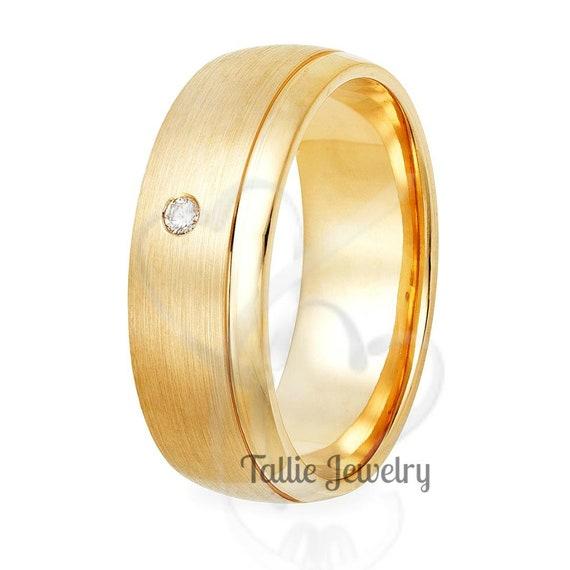 Wedding ring Solid gold wedding ring 18K gold wedding band Men/'s wedding ring Yellow gold wedding ring 14K gold ring Wedding band