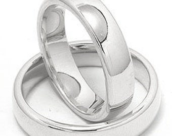 His and Hers Platinum Wedding Bands, Platinum Matching Wedding Rings Set , Platinum His and Hers Wedding Bands, Couple Wedding Rings