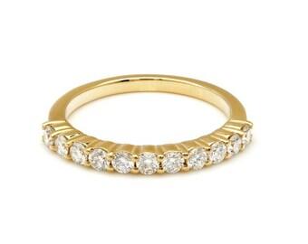 14K Gold Diamond Ring , Diamond Eternity Wedding Band , Stacking Diamond Ring ,Rings for Women, Engagement Rings, Anniversary Ring