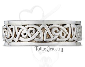 Celtic Wedding Bands, Irish Wedding Rings, White Gold Mens Wedding Bands, Mens Celtic Wedding Rings, Celtic Knot Mens Wedding Bands
