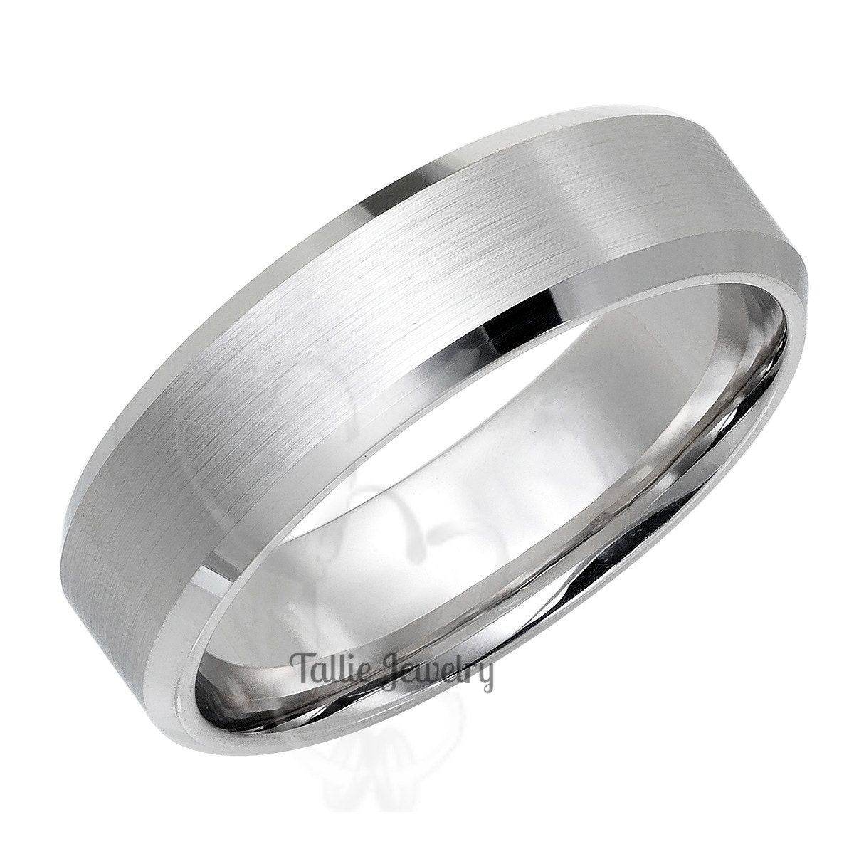 Mens White Gold Wedding Bands, Matching Wedding Rings