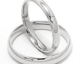 His & Hers Platinum Wedding Bands, Matching Wedding Rings Set  ,Platinum Diamond Wedding Bands, Rings for Women, Rings for Men
