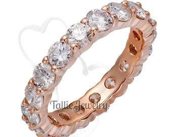 Diamond Eternity Ring,  Diamond Eternity Band,   2.70 Carats Diamond Wedding Ring ,14K Solid Rose Gold Diamond Wedding Band, Rings for Women