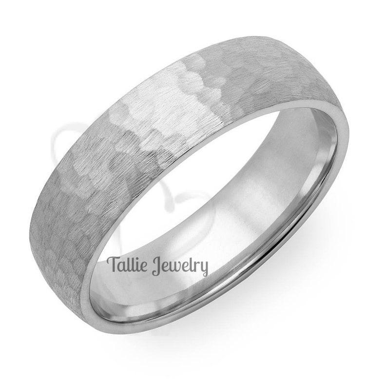 Matching Wedding Rings Platinum Mens Wedding Rings Hammered Finish Platinum  Mens Wedding Bands His /& Hers Wedding Bands