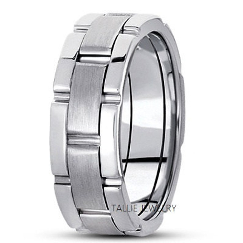 Platinum Mens Wedding Bandsplatinum Mens Wedding Ringssatin Etsy