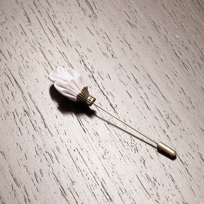 White Gray or Black Men/'s Lapel Stick Pin Royal Scepter Wedding Boutonniere
