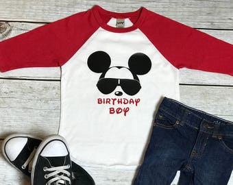 Mickey Mouse Glasses Birthday