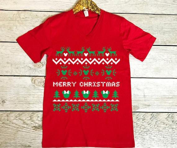 Disney Ugly Christmas Sweater.Ugly Christmas Sweater Shirt Disney Christmas Shirt Mickey Ugly Christmas Sweater Raglan Mickey Christmas Minnie Christmas